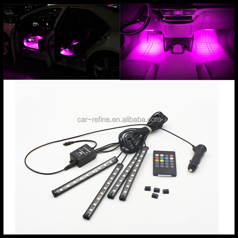 9SMD 5050 RGB LED interior light strips Foot Decoration Light strip auto Car Styling Lamp Atmosphere Lights for Mazda 3 6 Axela