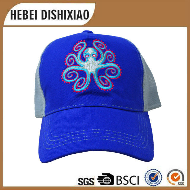 New design animal embroidery acrylic baseball cap high quality mesh trucker cap for boys and girls