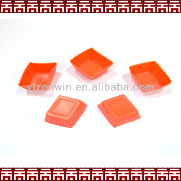 square shape silicone mini cupcake mold