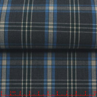 leftover stock cotton plaid poplin fabric