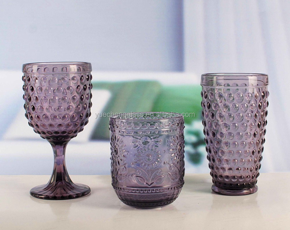 handmade glass tumbler colored and drinking glass tumbler for candles