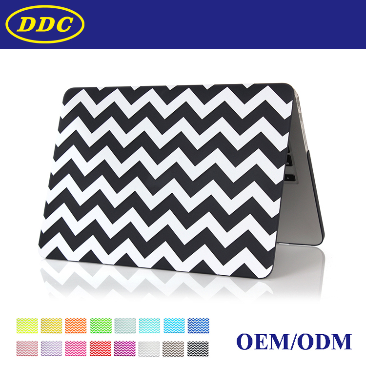 For Apple Macbook,Striped Laptop Rubber Hard Case for Macbook Pro