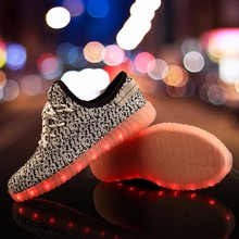 Flying colorful coconut lamp shoes with light-emitting low to help men and women shoes authentic casual shoes