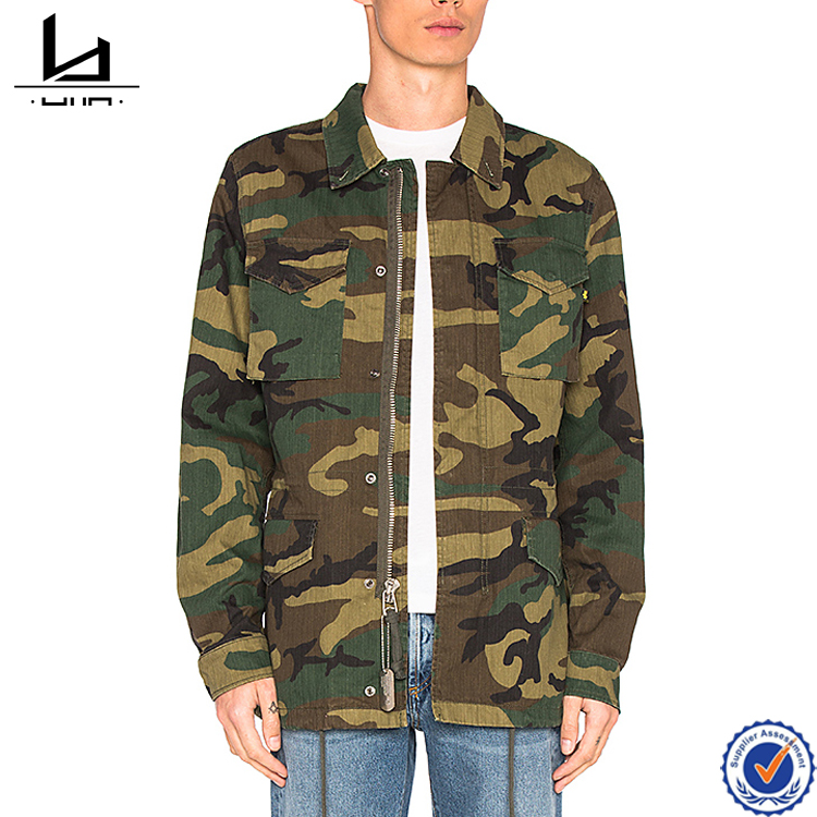 Mens camo coat qualited woven fabric available 2017 custom made jacket