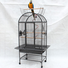 cheap price black iron zoo animal cages for parrot birds with stand large bird cages for canaries B25