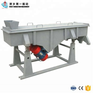 Light linear vibrating screen for coal powder