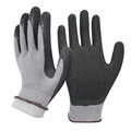 NMSAFETY 13g nylon and acrylic for cold weather winter work gloves with rubber palms