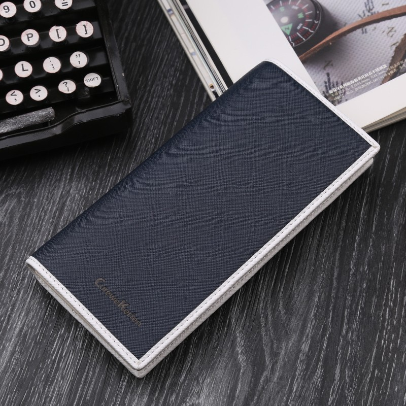 Curewe Kerein 2017 Men long wallets leather men business money purses vintage credit card photo holder male bifold clutch wallet