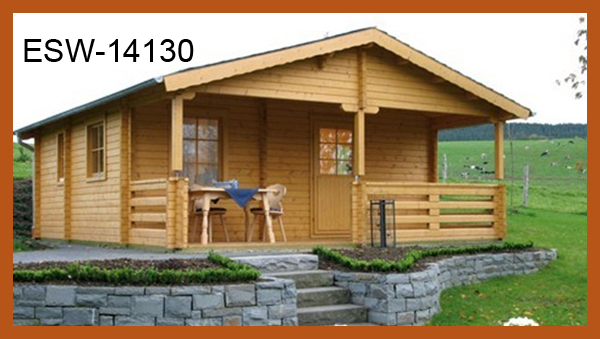 One-floor Prefabricated Wooden House Price In 36mm Thickness Of Wall