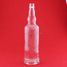 Food grade tamper cap drinking bottle tanqueray drinks bottle liquor bottle wholesale glassware exporting