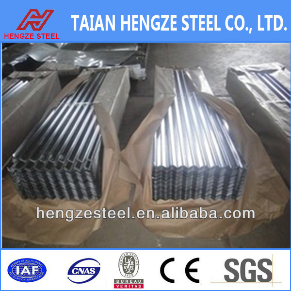 Steel manufacture roofing materials zinc coated galvanized sheet metal roofing price