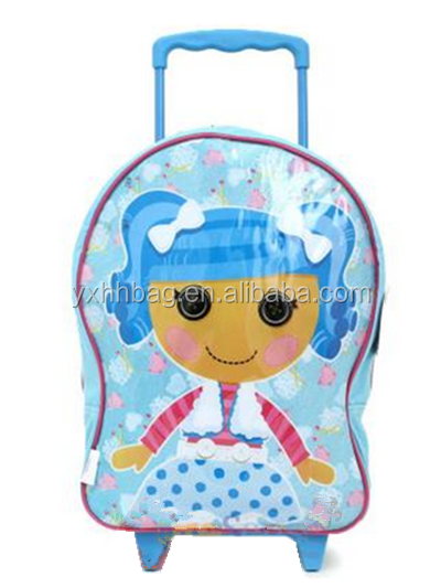 Kids Trolley Bag &Children Travel Trolley Luggage Blue Roller Bag