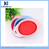 Collapsible Silicone Food & Water Travel Bowl with Clip for Small & Medium Dog and Cat