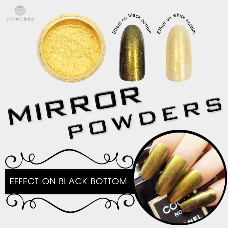OEM pigments glitter nail mirror powder for nails