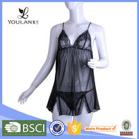Customized LOGO Monotonous Lace Mature Lingerie Pictures With Underwear Garters