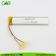 slim lipo battery 3.7v rechargeable lithium battery cell for powered led open signs