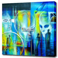 Wholesale abstract oil painting canvas wall art the face of the city for room