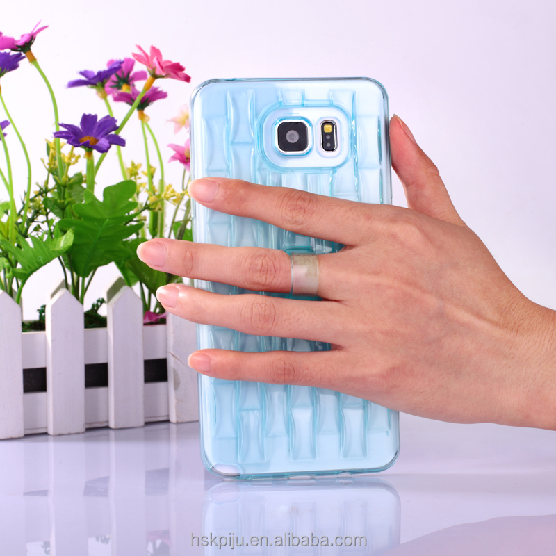 soft durable ice sculpture shape TPU clear stand mobile phone case for samsung