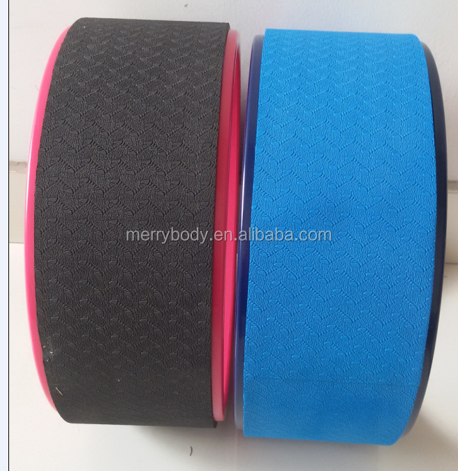High Quality Yoga Wheel 33X13CM made of strong ABS tube padded with TPE EVA CORK surface