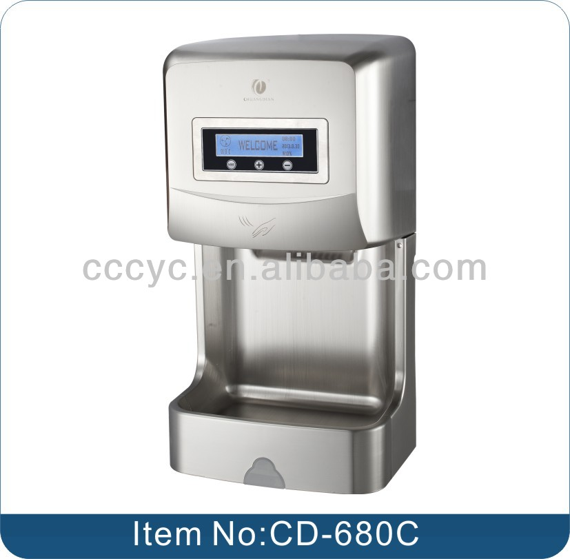 Hotel Automatic LCD Screen Sensor Electric Hand Dryer CD-680C
