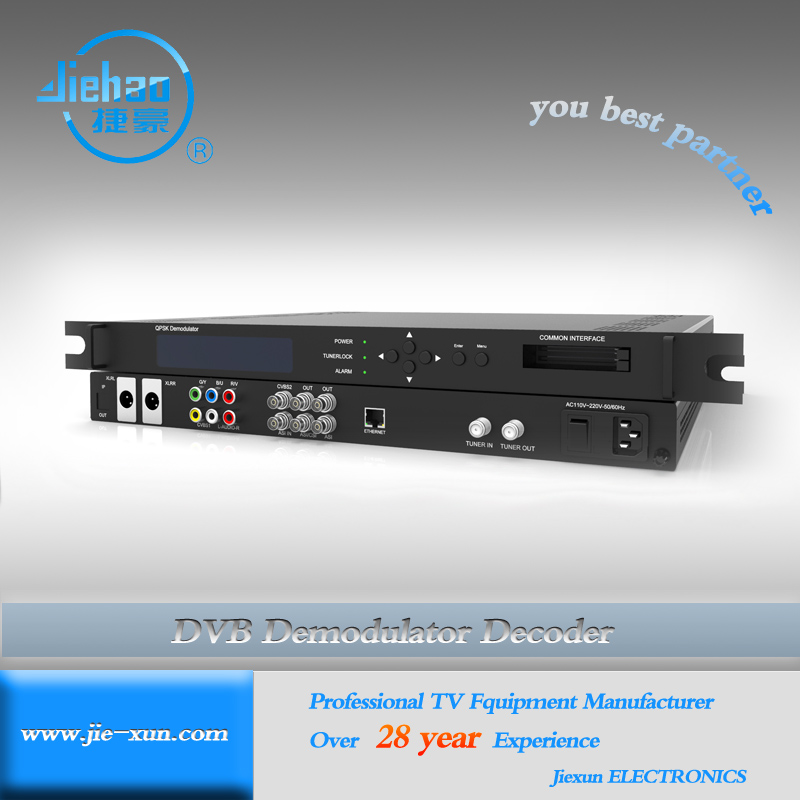 dvb-s2 Professional ird with CI slot for encryption satellite programs