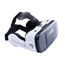VR BOSS Virtual Reality Headset 3D Glasses with Headphone for 4.0-6.3 inch Smartphone with R1 Bluetooth Remote Control