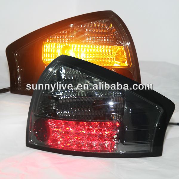 For Audi A6 LED Tail Light Rear lamp 1999-04 year All Smoke Black
