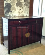 Hotel lobby furniture luxury wooden tall wall corner table console