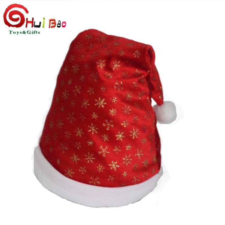 fashionable christmas gift shiny glitter father christmas santa hat