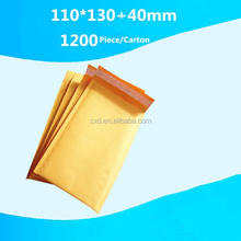 Wholesale kraft paper bag, jiffy envelopes for delivery use 110x130+40mm