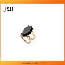 Gold Plating One Stone Ring Designs For Men
