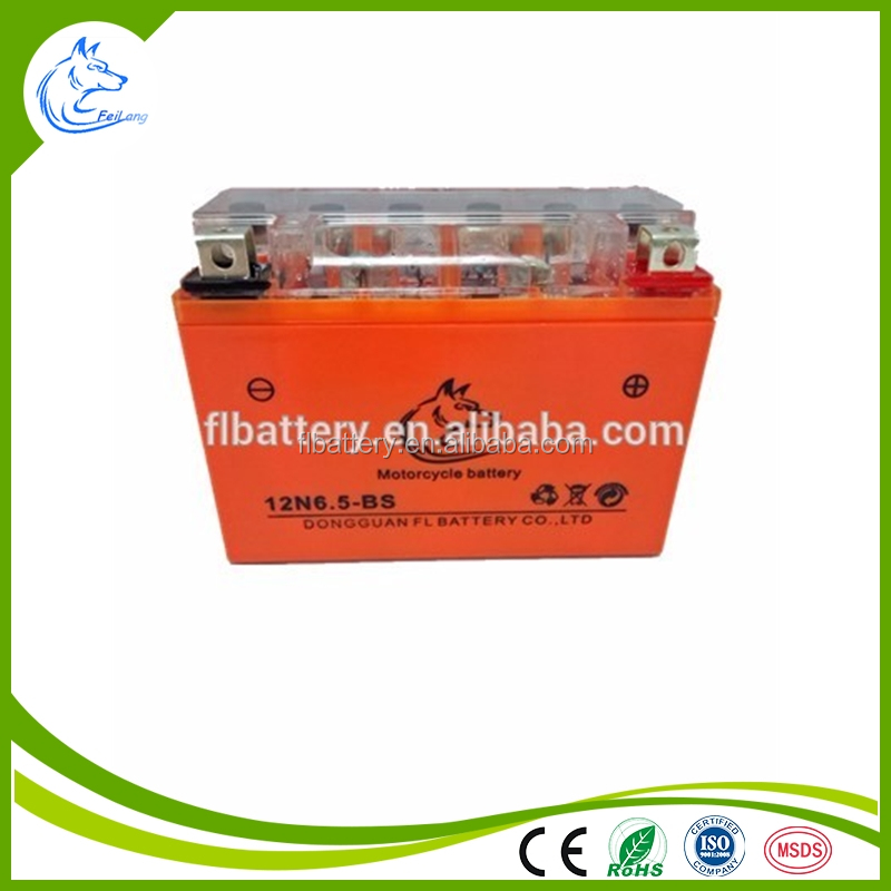 New Power Safe Dry Battery 12V 6.5Ah Motorcycle Battery from feilang