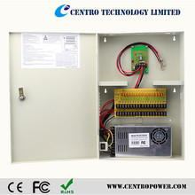hot 12v dc power box with battery backup for security camera 18 ch