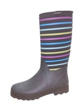 colorful stripe neoprene women boot shoes WR-257