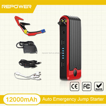 Repower Jump Start Type 12V 12000mAh Car Emergency Tool Mini Super Start Jump Starter