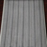 New collection white black stripe transparent sheer curtain fabric in China