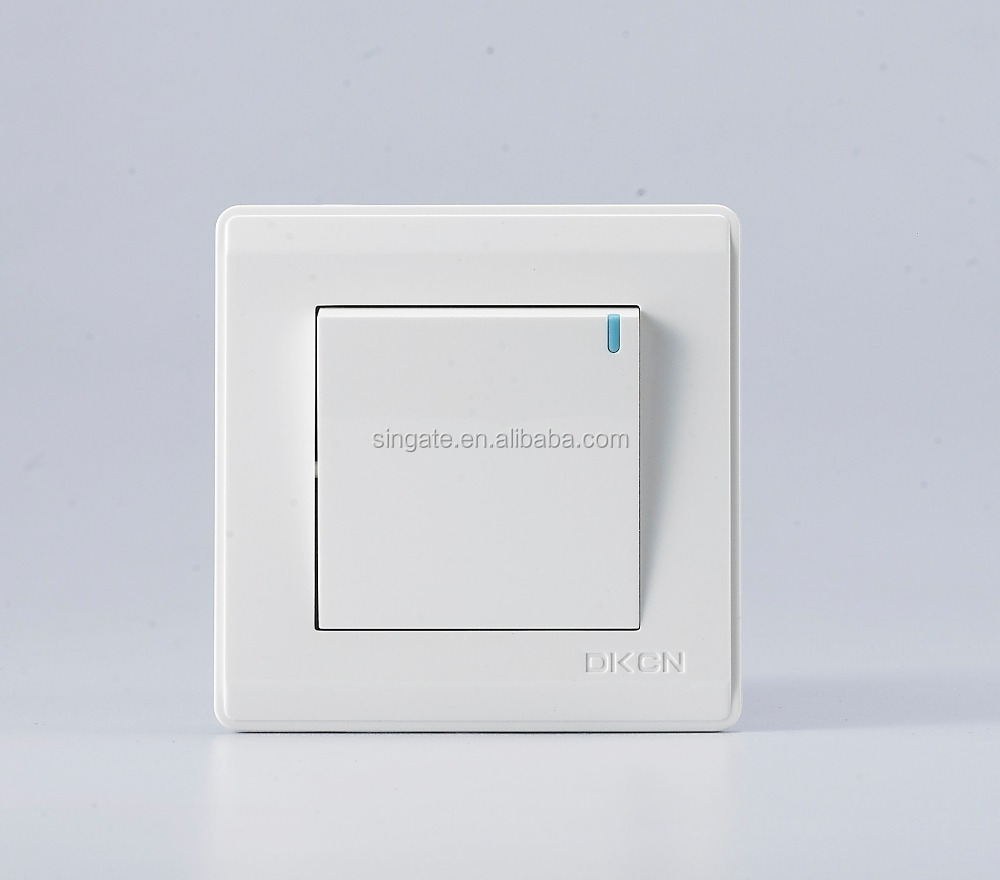 Home Hotel Electrical Wall Switch One Gang One Way Push Button Smart ...