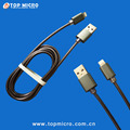 Durable Round Metal Spring Data Line for iphone Micro Type C USB Charger Cable