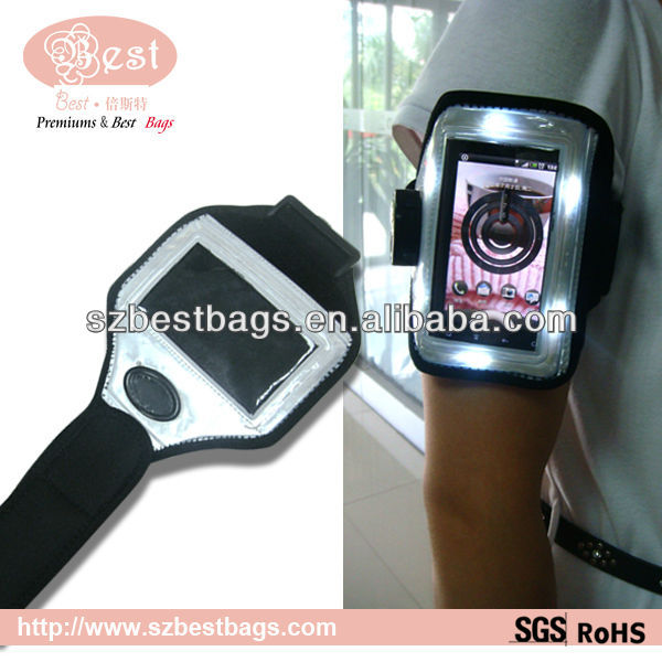 LED Waterproof Bright Sport Mobile Phone Armband,armband for iphone 4