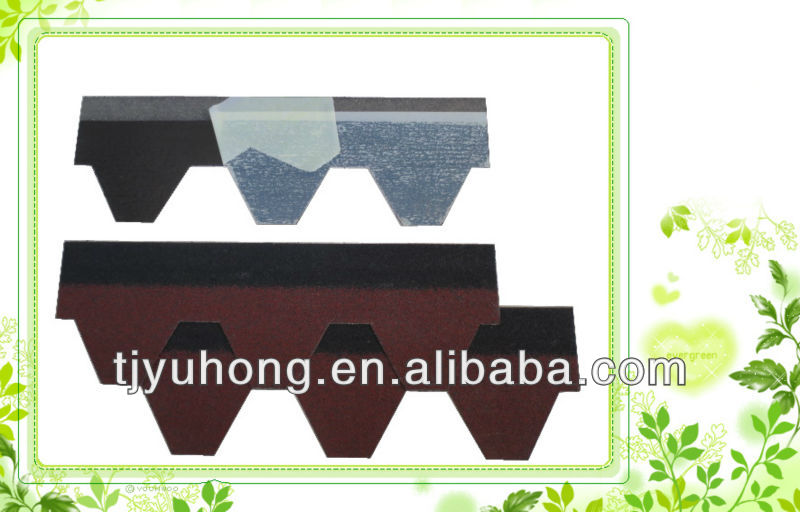 Red asphalt roofing shingles / Bitumen shingle / Roofing Tile