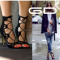 2015 latest design elegant fashion high heel gladiator shoe