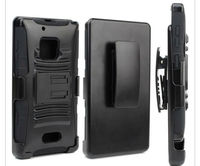Extreme Rugged Impact Armor Hybrid Hard Case Cover Beltclip Holster With Stand For Nokia Lumia 928