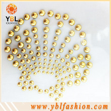 Shell resin stone pearl hotfix motif design