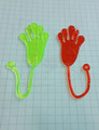 China factory cheap toys for kids funny small hand shape sticky toys soft toys