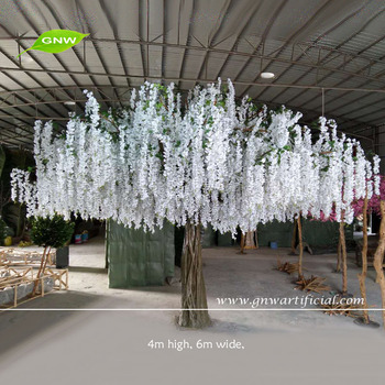 Gnw 13ft Artificial Big Wedding Trees With White Wisteria Flower For ...