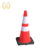 28 inch road reflective plastic safety flexible black rubber base orange pvc traffic cone