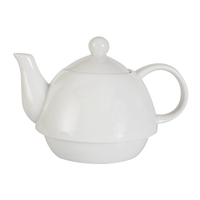 10 oz Can be customized color white porcelain tea pot