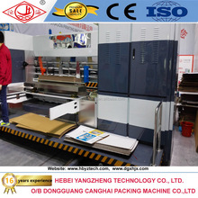 Corrugated cardboard carton box making machine