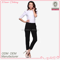 lady fashion blouse/office uniform designs for women pants and blouse