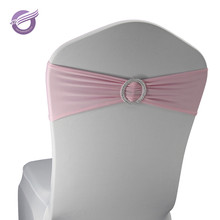 BS00178 cheap rental wedding elastic pink spandex chair cover sashes